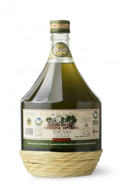 olio extra vergine di oliva Toscano IGP del Montalbano da Agricoltura Integrata 2 L