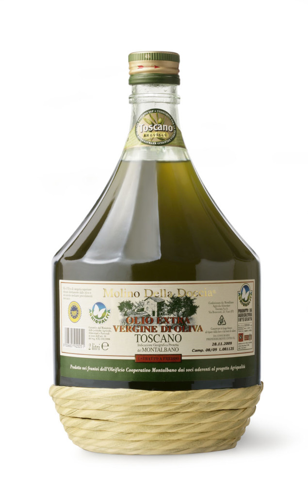 Tuscan PGI extra virgin olive oil  from Montalbano by Integrated Farming Bottle 2L