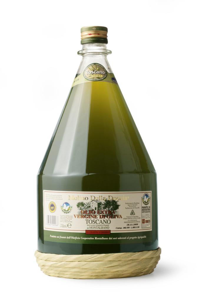 olio extra vergine di oliva Toscano IGP del Montalbano da Agricoltura Integrata 3 L