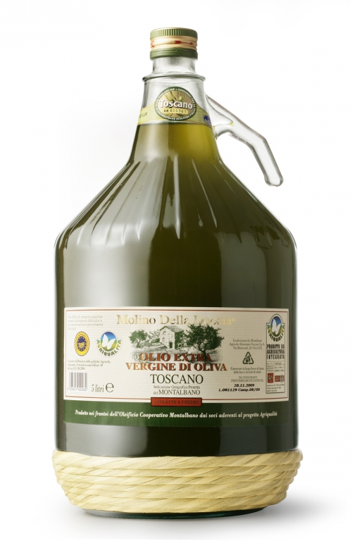 Tuscan PGI extra virgin olive oil  from Montalbano by Integrated Farming Glass 5L