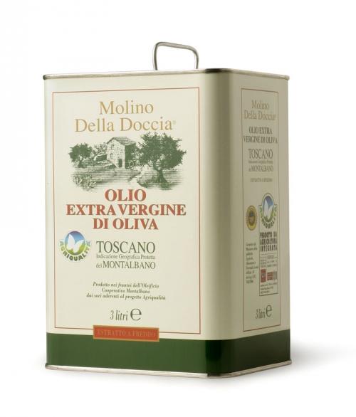 olio extra vergine di oliva Toscano IGP del Montalbano da Agricoltura Integrata Lattina 3L