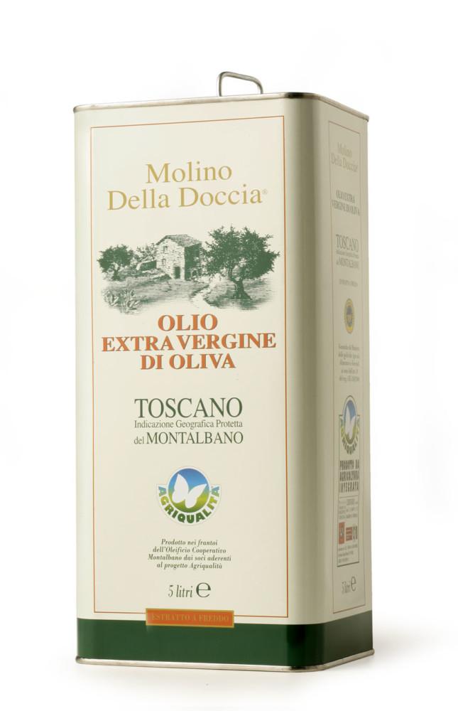 olio extra vergine di oliva Toscano IGP del Montalbano da Agricoltura Integrata Lattina 5L
